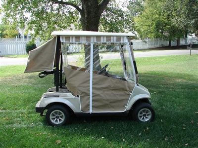 Fairplay Golf Cart Custom No Velcro Sunbrella Track Enclousure
